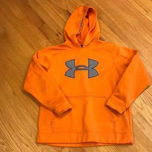 Boys UNDER ARMOUR Orange Sweatshirt Sz Youth Large